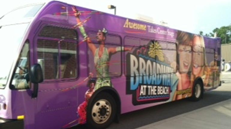 Broadway at the Beach Bus Wrap