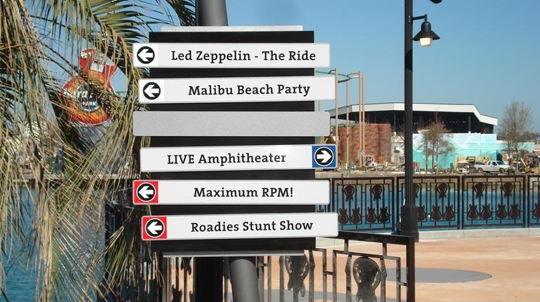 Wayfinding Directory, Hard Rock Park, Myrtle Beach, SC
